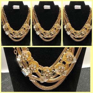 Statement Necklace, Wholesale Lot of 4, High End!